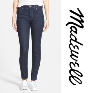 "Madewell ""High Rise Skinny"" Fit Dark Wash Jeans"